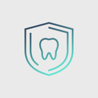 Animated tooth on shield