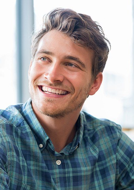 Young man with handsome smile